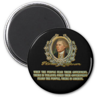 Thomas Jefferson Quote: Government & the People 6 Cm Round Magnet