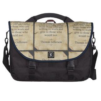 Thomas Jefferson Quote Laptop Bag