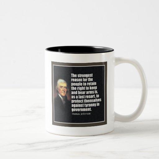 Thomas Jefferson Quote Mugs