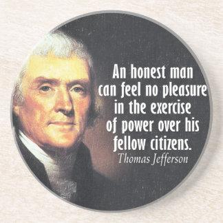 Thomas Jefferson Quote on Power Coasters