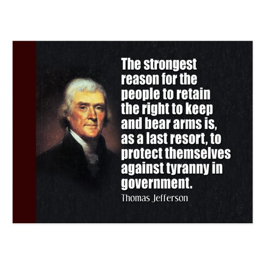 Thomas Jefferson Quote Postcard