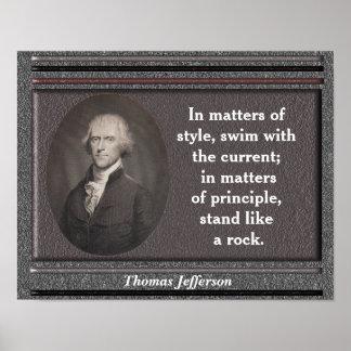 Thomas Jefferson quote - poster