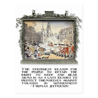 Thomas Jefferson Quote: Tyranny in the Government Postcard