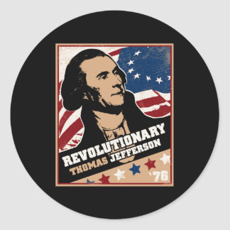 Thomas Jefferson Revolutionary Sticker