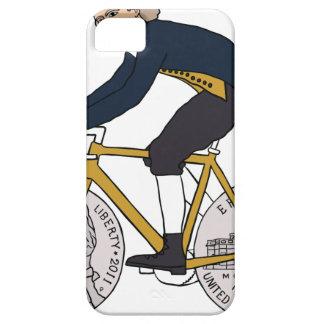 Thomas Jefferson Riding Bike W/ Nickel Wheels iPhone 5 Case
