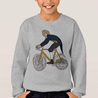 Thomas Jefferson Riding Bike W/ Nickel Wheels Sweatshirt
