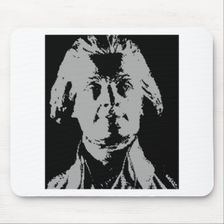 Thomas jefferson silhouette mouse pad