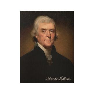 Thomas Jefferson Wood Poster