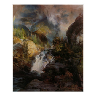 Thomas Moran - Children of the Mountain Poster