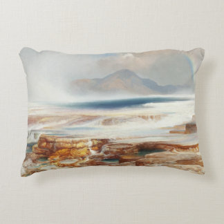Thomas Moran - Hot Springs of the Yellowstone Decorative Cushion