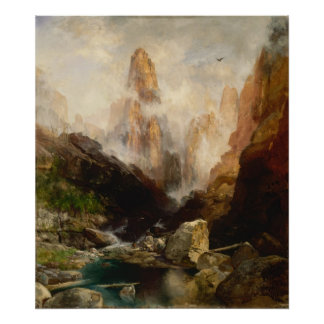 Thomas Moran - Mist in Kanab Canyon, Utah Poster