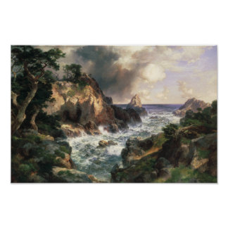 Thomas Moran - Point Lobos, Monterey, California Poster