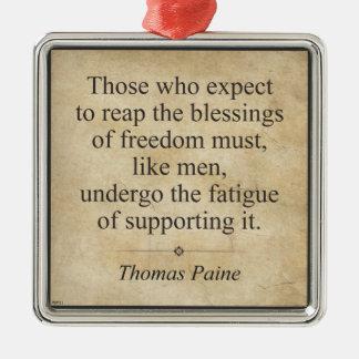 Thomas Paine Metal Ornament