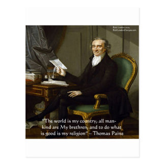 "Thomas Paine ""My Brethren"" Quote Gifts & Cards"