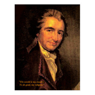 Thomas Paine - Postcard