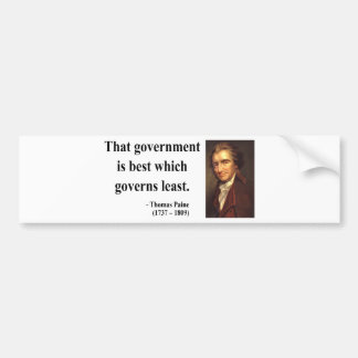 Thomas Paine Quote 1b Bumper Sticker