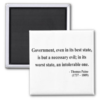 Thomas Paine Quote 2a Square Magnet
