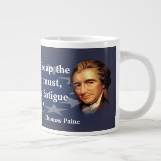 Thomas Paine Quote on The Blessing of Freedom Large Coffee Mug