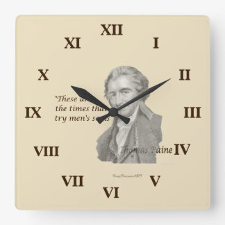 Thomas Paine These are times that try men's souls Wallclock