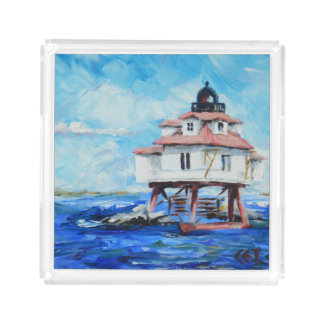 Thomas Point Lighthouse clear tray