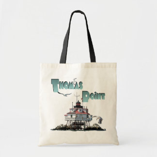 Thomas Point Lighthouse Budget Tote Bag
