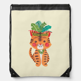 Thomas the Little Tiger Drawstring Backpack