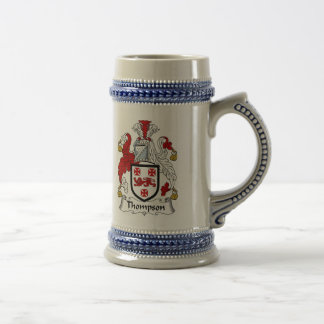 Thompson Coat of Arms Stein - Family Crest