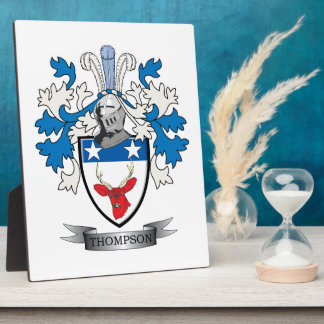 Thompson Family Crest Coat of Arms Photo Plaque