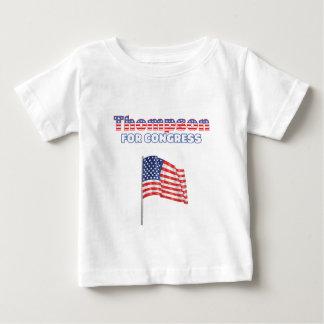 Thompson for Congress Patriotic American Flag Desi Baby T-Shirt