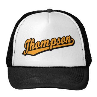 Thompson in Orange Mesh Hat