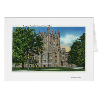 Thompson Memorial Library, Vassar College Card