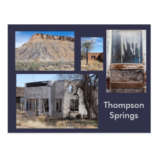 Thompson Springs Modern Ghost Town, Utah Postcard