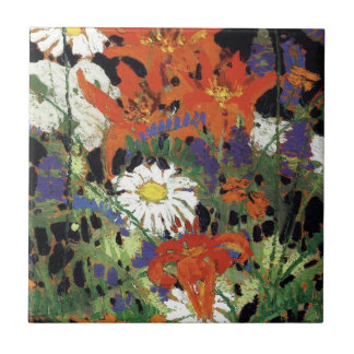 Thomson - Marguerites, Wood Lilies and Vetch Ceramic Tile