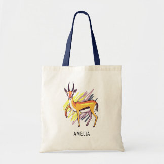Thomson's Gazelle Drawing Personalized Tote Bag