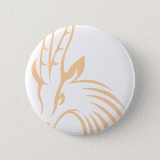 Thomson's Gazelle in Swish Drawing Style 6 Cm Round Badge