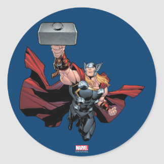 Thor Assemble Round Sticker