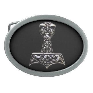 thor axe oval belt buckle