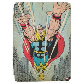 Thor Flying Through City Comic Panel iPad Air Cover