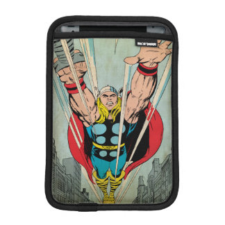 Thor Flying Through City Comic Panel iPad Mini Sleeve
