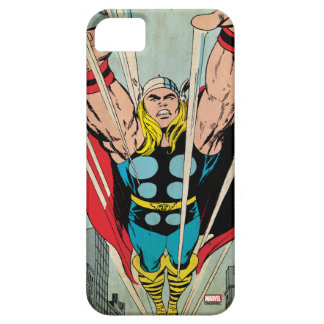 Thor Flying Through City Comic Panel iPhone 5 Cases