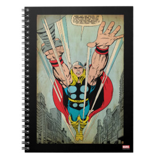 Thor Flying Through City Comic Panel Notebooks