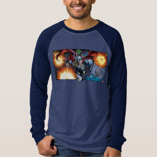 Thor Flying Through Space Comic Panel T-Shirt