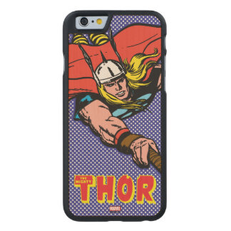 Thor Flying With Mjolnir Carved Maple iPhone 6 Case
