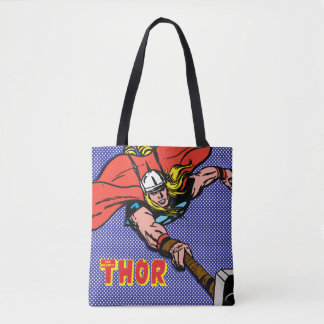 Thor Flying With Mjolnir Tote Bag
