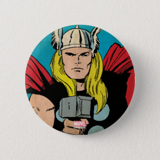"Thor ""God of Thunder"" Comic Panel 6 Cm Round Badge"