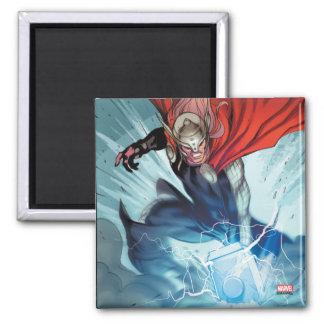 Thor Hammer Comic Panel Magnet