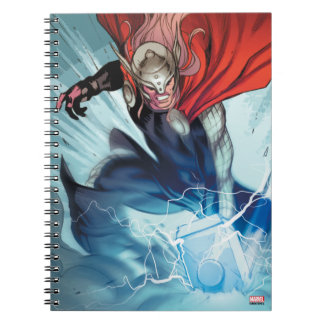 Thor Hammer Comic Panel Spiral Note Book