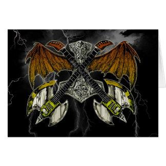 Thor Hammer of the Gods Guitars Card