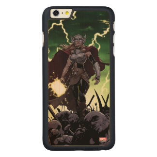 Thor Over Slain Enemies Carved Maple iPhone 6 Plus Case