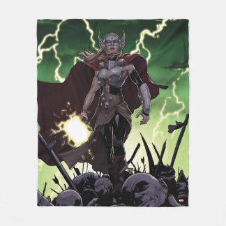 Thor Over Slain Enemies Fleece Blanket
